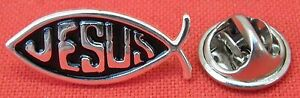 Jesus-Fish-SOLAPA-Gorra-cordon-Prendedor-pin-Santa-Cristiano-Religioso-Broche