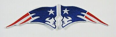 LOT OF (2) NFL NEW ENGLAND PATRIOTS RIGHT & LEFT LOGO EMBROIDERED PATCHES # 14
