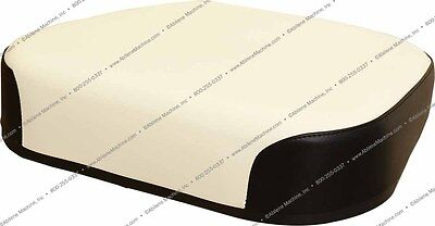 Amow1850s Seat Cushion Black White Vinyl For Oliver 1550 1555 1650 Tractors