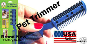 Pet DOG CAT Hair Trimmer With COMB 2 Razor Cutting NEW