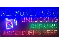 LED mobile phone unlocking Repairs new Sign board