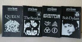 Little Black books guitar tab song books x4