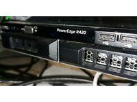 Dell PowerEdge R420 1U Computer Server - Dual Xeon E5-2450v2 CPU and 96GB RAM