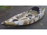 Fab Fishing Kayak With Seat and Paddle BARGAIN £200