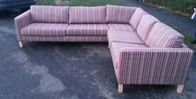 Ikea corner sofa.