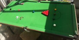 6ft fold away snooker table