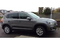 VOLKSWAGEN TIGUAN, 2.00 TDI, BLUEMOTION, 16,661 MILES, AUTOMATIC, DIESEL, GREY, EXCELLENT CONDITION