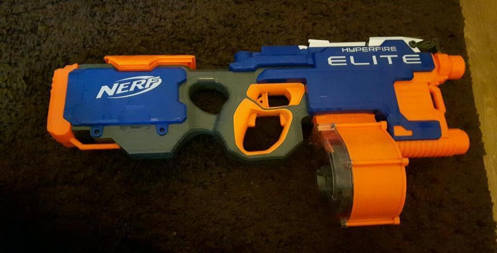 La foto se está cargando Nerf-Dart-Tag-Hyperfire -Blaster-pistola-barril-giratorio-