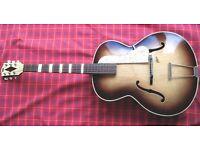 Hofner Archtop Guitar Right Hand Model *Stunning* 1950'S