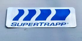 Promotional Item! Supertrapp exhaust logo Silver Shiny Sticker -Tokyo Motorcycle Show2016-