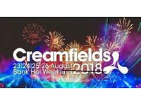Creamfields 4 day camping gold