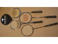 Badminton Rackets (4) Carlton, Wilson, Artendo, Plus one