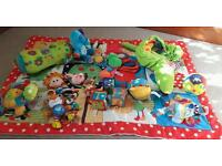 Baby mat and sensory toy bundle