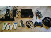Xbox 360 slim (250gb) with kinect, controller, turtle beach headset and 25 games