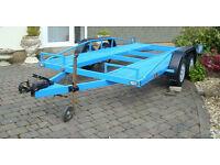 Twin axle single car trailer