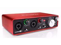 Focusrite scarlet 2i2 audio interface.