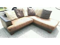 Brown Tiger Corner Sofa