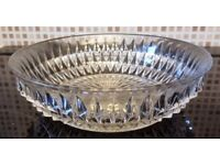 Clear Cut Glass Dish/ Low Bowl - W24cm x H8cm