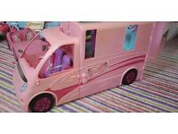 Barbie large travel van