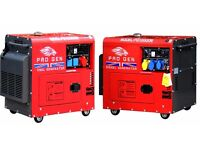 PROGEN DIESEL GENERATOR 230V 50Hz 8 kVA SUPER SILENT WITH ELECTRIC START (20kVA & 40 KVA AVAILABLE)