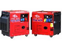 PROGEN DIESEL GENERATOR 230V 50Hz 8 kVA SUPER SILENT WITH ELECTRIC START (20kVA & 40 KVA AVAILABLE)