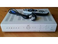 Sky+ box with remote control and power cable, and scart lead. In good working order.