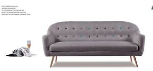 Brand New 3 seater EuroStyle Quality Fabric Sofa Grey Clayton South Kingston Area Preview
