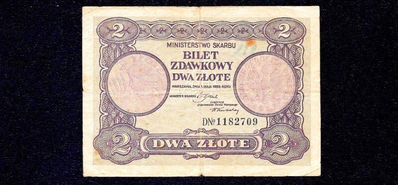 POLAND  2  ZLOTE   1925  P-47