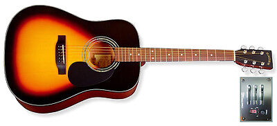 Zager Easy Play ZAD20E VS Acoustic Electric Vintage Sunburst Guitar