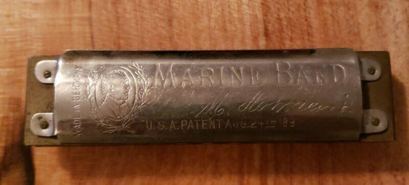 Hohner Marine Band Pre War Harmonica Key of A Pre-War Mouse Ears
