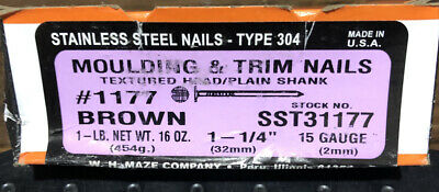 1 14 Trim Nails Stainless Steel Brown Finish Nails 1lb Box Stronghold