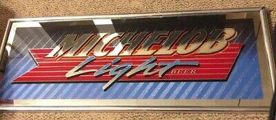 Vintage Bar Advertising Mirror Sign Michelob Light Beer