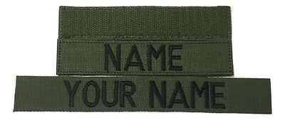 OD Green Custom NAME TAPE - US ARMY USAF MARINES POLICE Military Tape