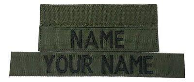 Police Custome (OD Green Custom NAME TAPE - US ARMY USAF MARINES POLICE Military)