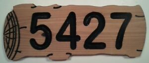 LOG-shaped-Custom-Routed-Address-Plaque-Wood-Sign-routed-CEDAR
