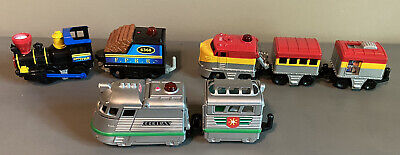 3 FISHER PRICE GEOTRAX TRAINS - No Remotes