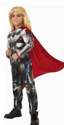 Kids Thor Costume (Avengers Marvel Thor Muscle Chest Child Costume Size Small)