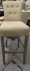 set of 3 buttoned back barstools