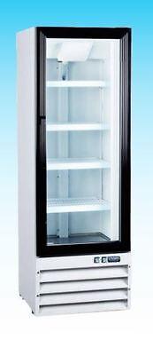 Omcan Re-cn-0009 9.0cf 1-door Commercial Glass Refrigerator Merchandiser Cooler