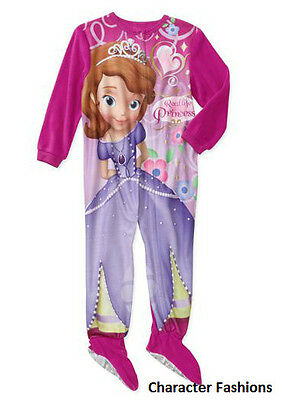 SOFIA THE FIRST  2T 3T 4T Girls BLANKET SLEEPER Footed Pajamas Pjs PRINCESS