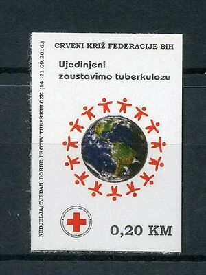 Bosnia & Herzegovina 2016 MNH Red Cross Tuberculosis TB 1v S/A Set Stamps