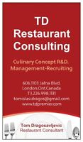 hospitality-restaurant  food business / gastronomic consultant