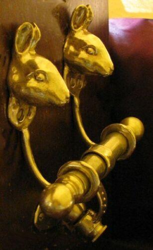 RABBIT Bronze DUET Door Knocker