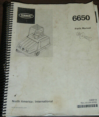 Tennant Model 6650 Parts Manual Cleaning Equipment _ 2006 _ 330910 (Rev. -