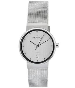 SKAGEN 355SSSC Ladies Mesh Strap Watch w/Date £100 *NEW* O355SSSC