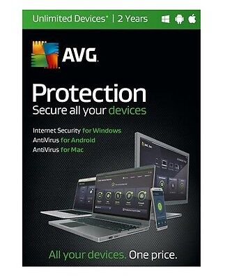 Avg Protection 2016 Unlimited Devices 2 Year Subscription   Free Upgrade