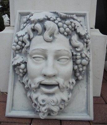 """Fassadenstuck, Stuckbild, Wandbild """"Bacchus"""" Steinguss, Relief, Gartenfiguren"""