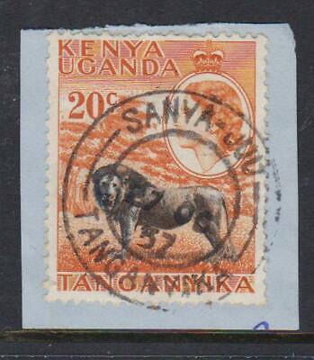 KENYA, UGANDA & TANGANYIKA POSTMARK - SANYA - JUU 1957 (E.r.d.)