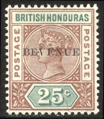 BRITISH HONDURAS #50a Mint - 1899 25c Red Brown & Green, BEVENUE