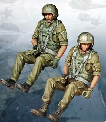 1/35 Resin US Helicopter Crew 2 Figures Vietnam War  BL192 for sale  China